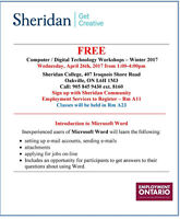 FREE INTRO TO MICROSOFT WORD & COMPUTERS IN OAKVILLE