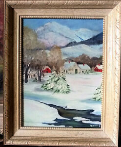 "Christmas Winter Landscape, Jeannie Pallister ""Winter Peace"" '83"