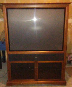 "Sold oak RCA 50"" big screen tv Peterborough Peterborough Area image 1"