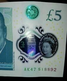 Ak47 five pound note exclusive