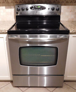 MAYTAG Smooth Top Stainless Steel Electric Stove