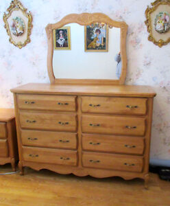 Ideal Furniture DOUBLE BUREAU / CHEST OF DRAWERS with MIRROR