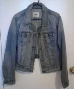 Women's Old Navy Light Wash Jean Jacket Size XL