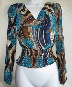 Slit Sleeve Peasant Top - SMALL - New