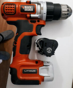 Black & Decker Cordless Drill w/ 2 Batteries 12v  Lithium+charge