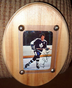 77 Topps Darryl Sittler Toronto Maple Leaf Signature Card Plaque