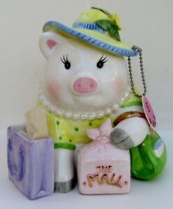 MUD PIE SHOPPING FUND PIGGY BANK
