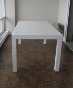 West Elm parsons table, great condition!