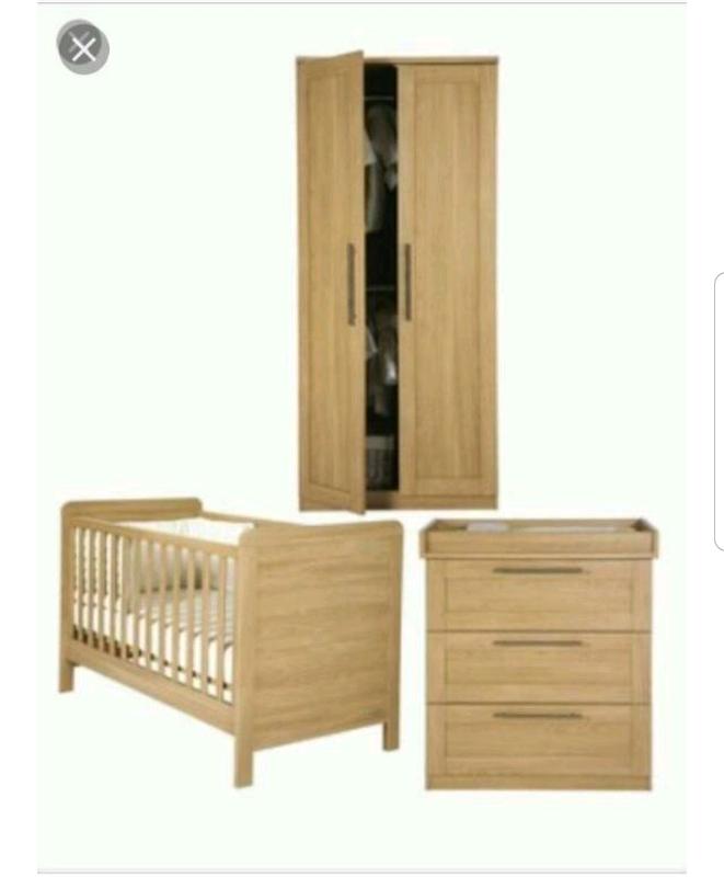 Mamas And Papas Rialto Oak Nursery Furniture Set In Hengoed Caerphilly Gumtree