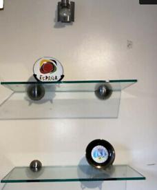 Pair Quality Glass Shelves