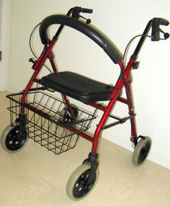 Top-of-the line 4 wheeled walker- virtually new!