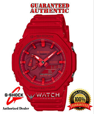 Casio G-Shock GA2100-4A Analog Digital Red Watch - Authorized Dealer
