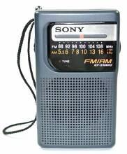 Sony Pocket AM/FM Radio ICF-S10MK2 - Grey Perth CBD Perth City Preview