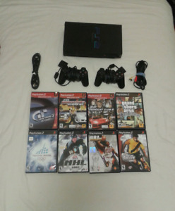 PS2 with 10 Games