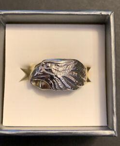 10K Gold Men's Eagle Ring