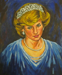 Original portrait of Lady Diana Spencer, Princess Di