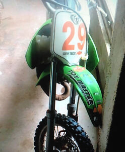 Two bikes for trade or sale. KX85 & KX65, great shape.