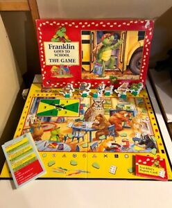 Franklin Goes to School board game & Disney Scene it DVD game