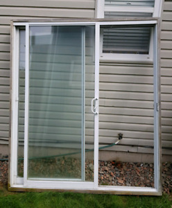 Patio Sliding Double  Door  complete with frame and Mesh