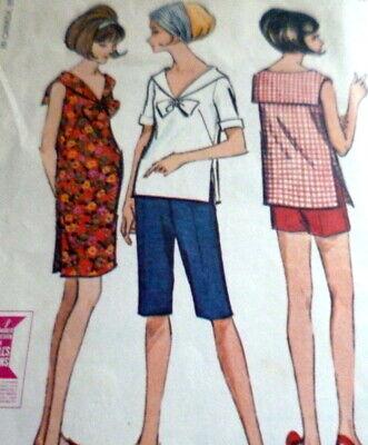 LOVELY VTG 1960s DRESS TOP PANTS SHORTS McCALLS Sewing Pattern 14/34 Dress Top Pants Shorts