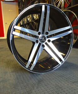 """BRAND NEW! 22"""" V39 Staggered Concave Wheels & Tires, LEXUS LS"""