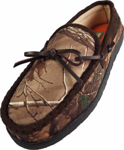Mens Realtree Camouflage Moccasin Slipper, XL (12-13) NWT