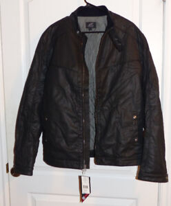 AlpineStars Lane Split Men's Black Leather Jacket Size XL NWT