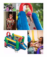Double Slide inflatable Bouncy Castle Free Delivery & Pick up