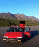 1991 Honda Civic Wagon - Clifford the big red car
