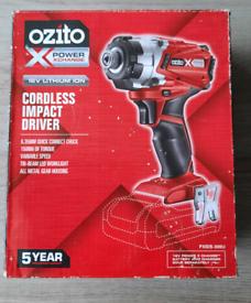 OZITO 18v cordless impact driver (NEW )