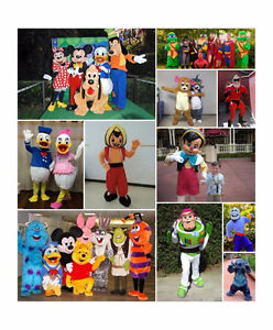 Kids birthday Disney mascots bouncy castle entertainers