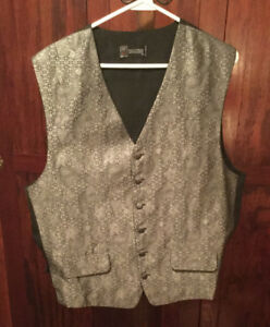 Lots of men's vintage vests - many sizes, styles, colours