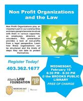 Non-Profit Organizations and the Law