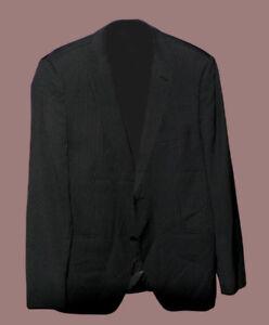 H&M men's Blazer coat suit size 44R Black with Grey Stripes