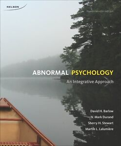 Abnormal Psychology: An Integrative Approach  |  4th Cdn Ed Kitchener / Waterloo Kitchener Area image 1
