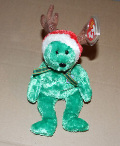 Ty Beanie Baby 2002 Holiday Teddy