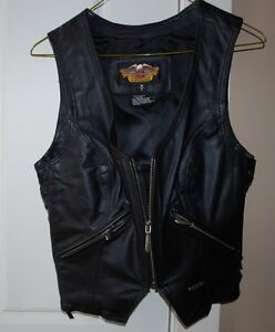 Leather Harley Davidson vest - Ladies Small