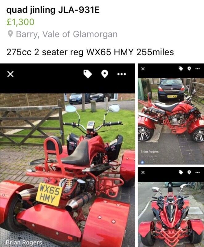 red quad jinling jla 931e in barry vale of glamorgan