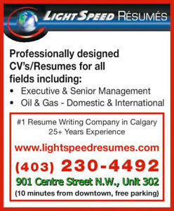 resume writing services calgary