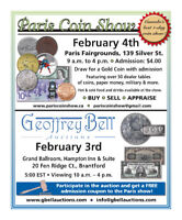 Paris Coin Show & Auction Feb 3 & 4, 2018