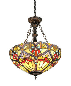 Chloe Lighting  Tiffany-Style Victorian 2-Light Pendent