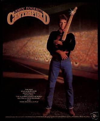 "1985 JOHN FOGERTY ""CENTERFIELD"" ALBUM PROMO AD"