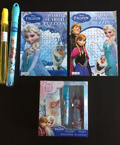 2 Frozen Word Search, bubbles and gift set