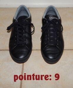 Souliers noir *LACOSTE* pour homme de pointure 9 (42 EU)