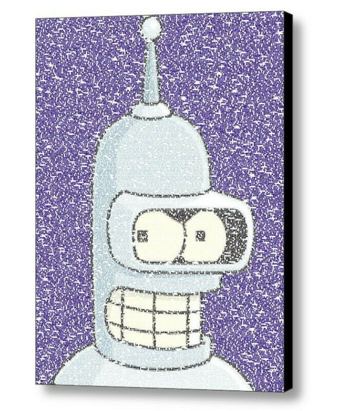 Futurama Bender Quotes Mosaic INCREDIBLE Framed 9X11 Limited Edition Art w/COA