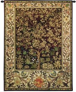 """1-""""arbre de vie"""" umber bw tapisserie murale"""