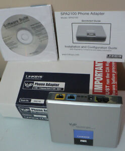 LINKSYS  SPA2100  VoIP PHONE ADAPTER