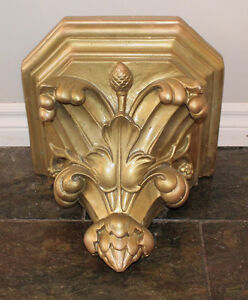 Beautiful Vintage, Ornate Wall Shelf/Sconce from an old church