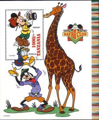 - Tanzania 1994 Disney/Mickey/Goofy/Giraffe/Safari Club/Cartoons 1v m/s (b1072)