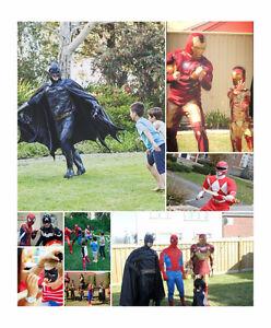 Mascots  Iron Man Red Ranger Superman Captain America